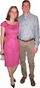 Yvonne wearing Kay Unger